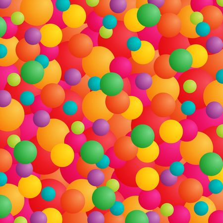 Abstract background with balls or balloons in bright colors. Stock Photo - 3021549