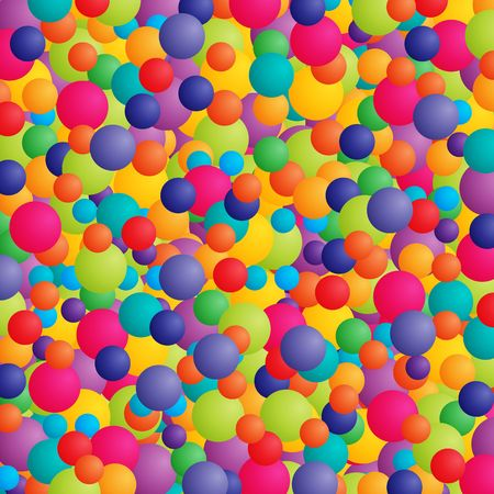 Abstract background with balls or balloons in bright colors. Stock Photo - 3021558