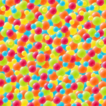 Abstract background with balls or balloons in red, yellow, blue, green and orange. photo