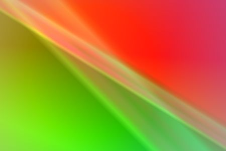 Abstract wallpaper with curves and waves in red and green. photo