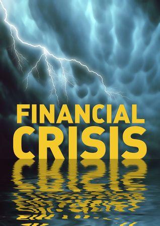 crisis economica: Ilustraci�n conceptual: La crisis financiera (recesi�n)