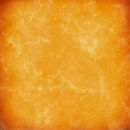stucco wall: Orange painted stucco wall, damaged, grunge, dirty