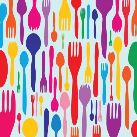 vintage dishware: Food - restaurant - menu design with cutlery silhouette
