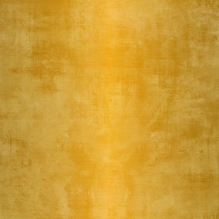 Square grunge gold background with weathered, stained steel with soft reflection Stock Photo