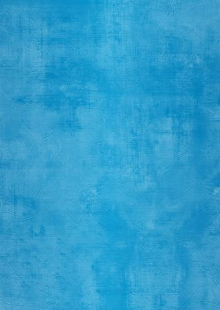Dark and light blue painted or plaster wall, damaged, grunge, dirty Stock Photo