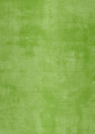 Dark and light green painted or plaster wall, damaged, grunge, dirty Stock Photo