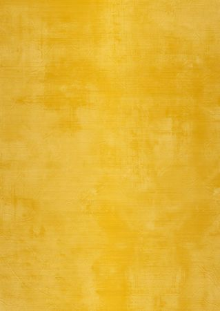 Dark and light gold or yellow painted or plaster wall, damaged, grunge, dirty Stock Photo