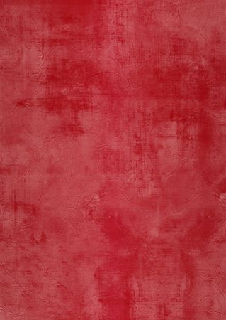 Dark and light red painted or plaster wall, damaged, grunge, dirty