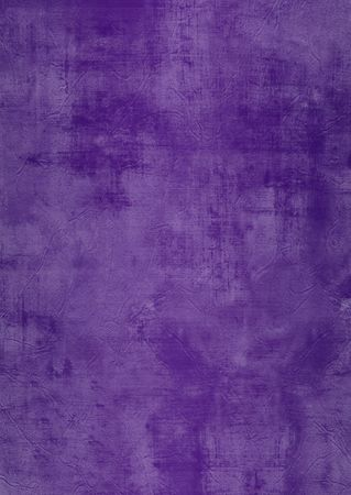 Dark and light purple painted or plaster wall, damaged, grunge, dirty