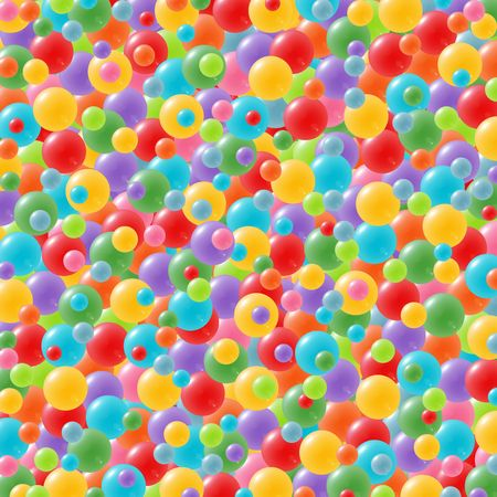 Celebration background with lots of festive balloons in green, red, yellow, pink, orange, purple and blue Stock Photo - 5379394