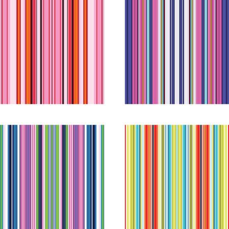 Four retro (seamless) vector stripe patterns in bright colors Stock Vector - 5414284