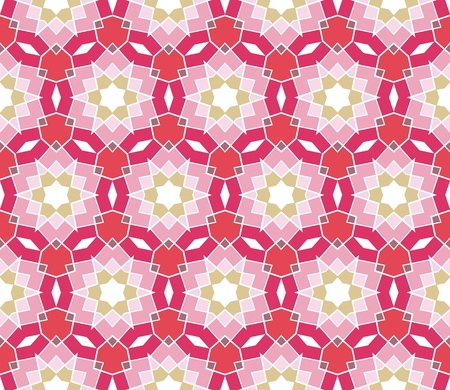 Seamless geometrical pattern with stars in pink, red, green, purple Stock Vector - 9735854