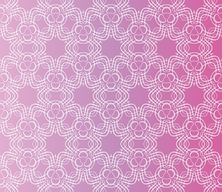 Stylish design with seamless lace on an (editable) pinkpurple background Vector