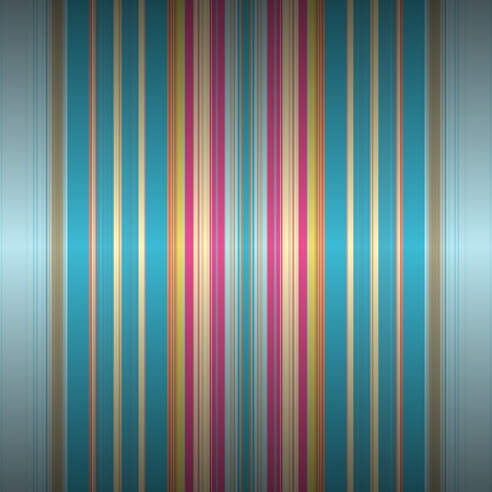 Elegant pattern of retro stripes with subtle light effect in blue, green, pink, orange Vector