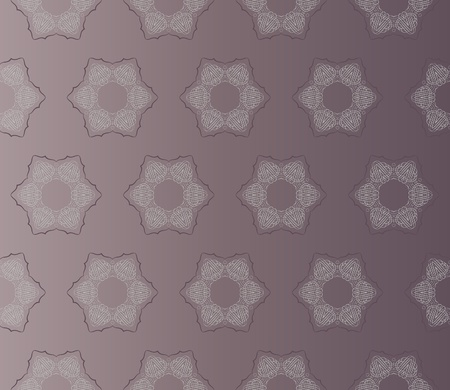 Stylish damast pattern with seamless flowers on an (editable) brown background