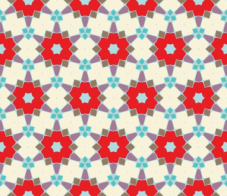 Seamless pattern with squares, lines and stars  Vector