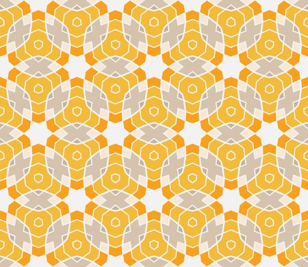Seamless pattern with circles, lines and stars  Vector