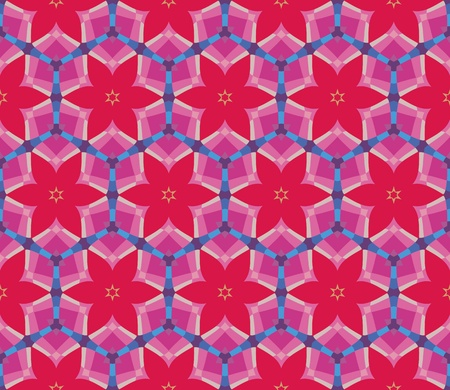 Seamless pattern with flowers, circles and geometric shapes Vector