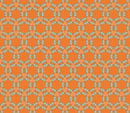 Art Deco seamless pattern in grey, beige, orange and green Vector