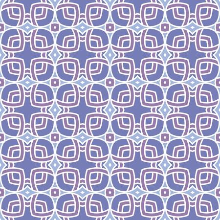 Conception pour les carreaux sans soudure avec des lignes géométriques et des places en violet, bleu