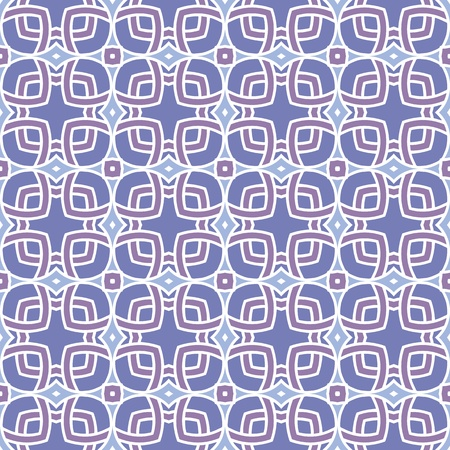 portugese: Design for seamless tiles with geometric lines and squares in purple, blue