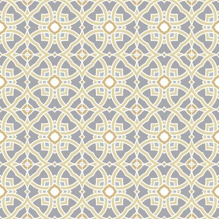 Design for seamless tiles with geometric lines and squares in grey, yellow, oker, brown Vector