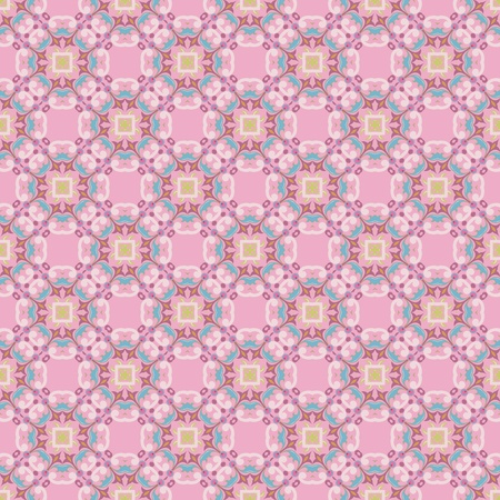 Vintage damask wallpaper pattern with abstract flowers and swirls in pink, blue, purple, green Stock Vector - 12760029