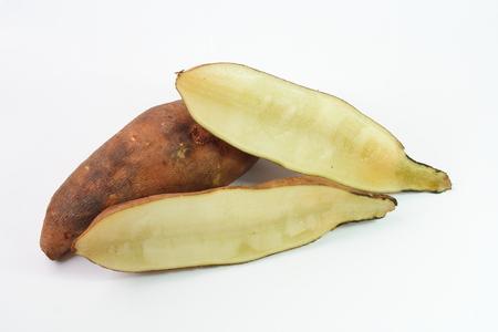 yacon: Fresh yacon roots on white background