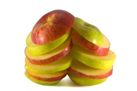 sliced apple: Two sliced apple