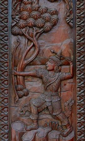 De madera nativa de estilo tailand�s talla