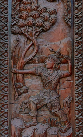 Native Thai style wood carving