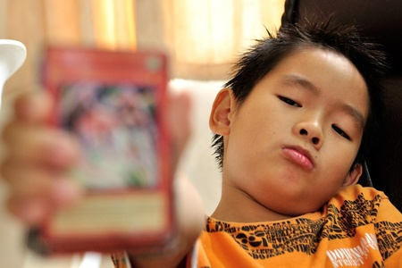 Tarantino face asian boy photo
