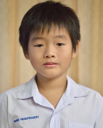 Asian boy in Elementary uniform photo
