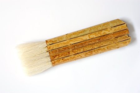 Paint brush isolated on the white background Stock Photo