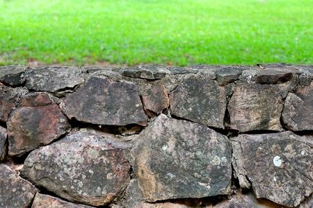 la pared en la hierba verde Foto de archivo