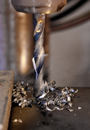 metal drilling closeup