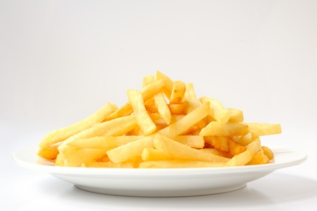 close up of french fries on white background Stock Photo