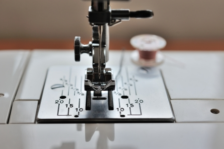 Close up sewing machine photo