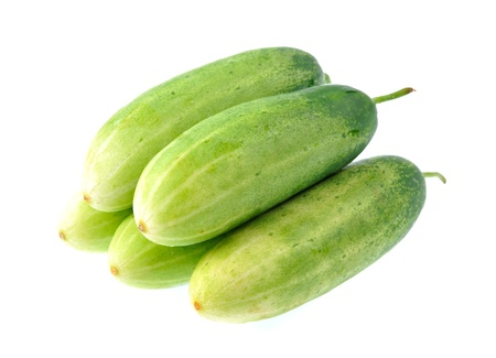 Cucumbers isolated on white background Stock Photo