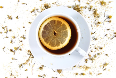 Tea with lemon  photo