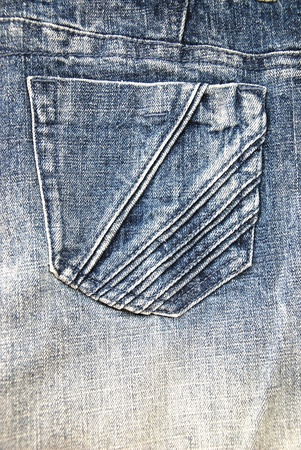white fabric texture: Blue Jeans pocket of background