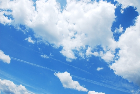 blue sky with clouds Stock Photo - 15605953