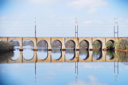 span: Bridge over River Stock Photo