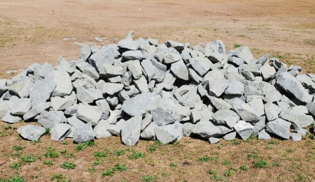 small stones: construction stones