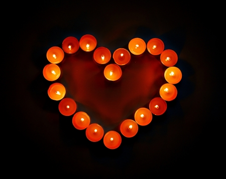 Heart of candles            photo