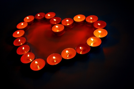 candle holder:               Heart of candles                  Stock Photo