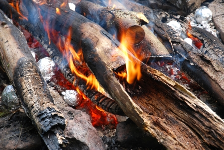 wood fire photo