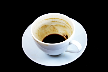 coffee hour: empty cup