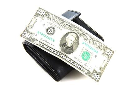 1 ドルの財布 写真素材