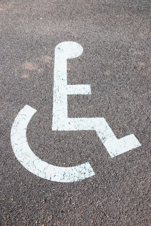 physically: disabled sign Stock Photo